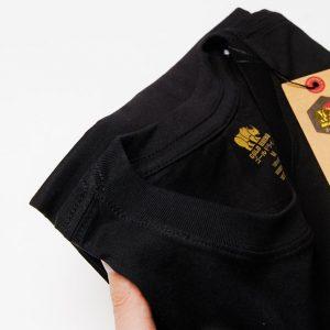 Áo thun trơn màu đen cao cấp 2
