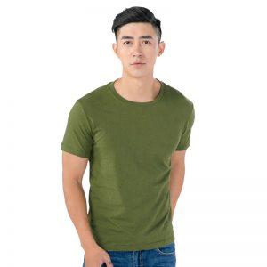 áo thun trơn nam màu xanh rêu