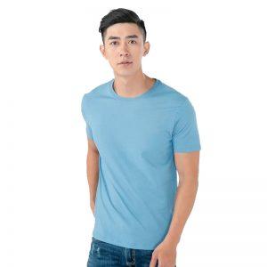 áo thun trơn nam màu xanh biển