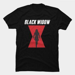 Áo Thun Black Widow Logo Silhouette