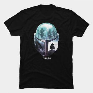 Áo thun Mandalorian Helmet